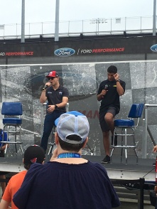 Ryan Reed and Bubba Wallace before the race on Saturday